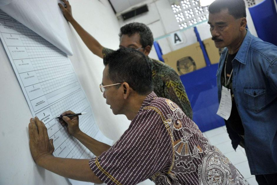indonesian vote counting