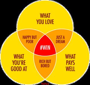 http://comerecommended.tumblr.com/post/14516934929/career-options-venn-diagram